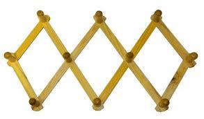 Metal Accordion Coat Rack Amazon Expanding PEG Rack 100 Hooks Hardwood Multipurpose 23