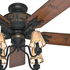 cabin ceiling fan light kit brilliant hunter 52 brittany bronze rustic w 4 shade throughout 9