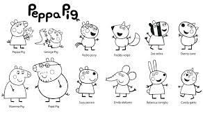 Peppa Pig Color Pages Peppa Pig Coloring Pages Pdf Dariokojadininfo