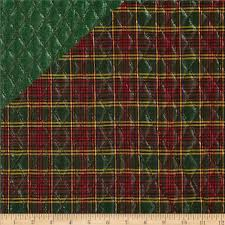 Holiday Blitz Double Sided Quilted Plaid Green from @fabricdotcom ... & Holiday Blitz Double Sided Quilted Plaid Green from @fabricdotcom Designed  for Textile Creations, this · Pre Quilted FabricQuilted ... Adamdwight.com