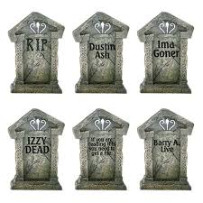 Piece Yard Holiday Decoration Tombstones Set Aisle Sign Fake 6 The wHg7tTqTa