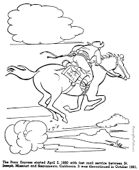 Small Picture The Pony Express History coloring pages for kids 063