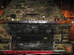 creosote soot stains on stone fireplace elk lake michigan usa c daniel