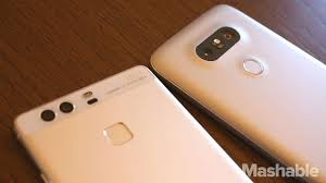 huawei phone 2016. the huawei p9 (left) and lg g5 (right) both have dual rear phone 2016
