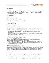 Student Internship Resume Exampleple Engineering Intern Doc For