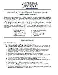 Waitress Resume Beauteous Resume Objective For Restaurant Resume Objective Waitress Food