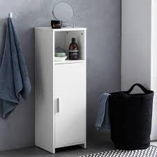 Finebuy Badschrank 30 X 955 X 30 Cm Weiß Holz Mit Tü Real