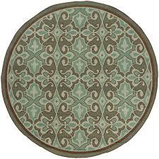 oriental weavers montego 7 10 ft round indoor outdoor rug 2335l