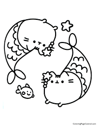 Pusheen is a cartoon cat who is the subject of comic strips and sticker sets on facebook. Pusheen Cat Coloring Pages Coloring Home