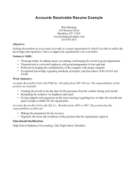 Sample Resume Accounts Receivable Clerk Free Resumes Tips