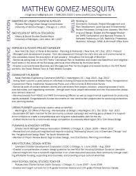 Resume Urban Planner Professional Resume Templates