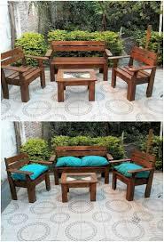 pallet outside furniture. Pallet Garden Furniture Set Outside