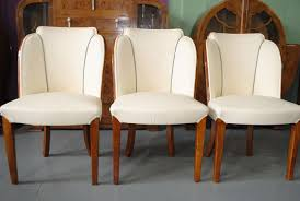 art deco furniture s 11 epstein dining table and 6 cloud back chairs in fiddle back maple cloud 9