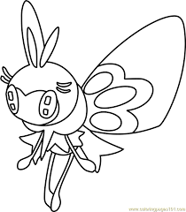 Small Picture Ribombee Pokemon Sun and Moon Coloring Page Free Pokmon Sun and