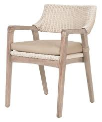 dining room attractive rattan dining chairs low back with arms design hahogany wood and wicker