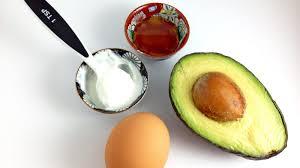 diy face mask ings avocado egg yogurt honey