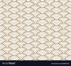 Japanese Wave Pattern Gorgeous Japanese Gold Background And Pattern Wave Pattern Vector Image