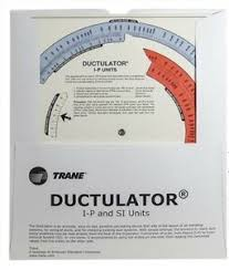 Details About Ductulator Duct Sizing Calculator Slide Chart Graph