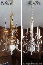 spray painting light fixtures and chandeliers tired paint with copper a brass chandelier put in vintage bulbs 213 320 present thedir info
