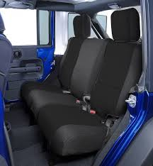 coverking custom rear seat covers for 2007 jeep wrangler unlimited jk 4 door quadratec
