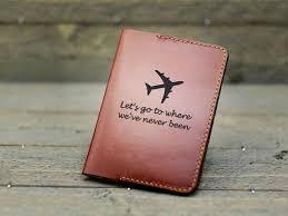 Leather <b>Passport</b> holder with World Travel Map, Wedding gift, Travel ...
