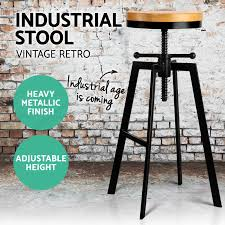 industrial age furniture. Image Is Loading Vintage-Retro-Industrial-Bar-Stool-Steel-Kitchen-Barstool- Industrial Age Furniture