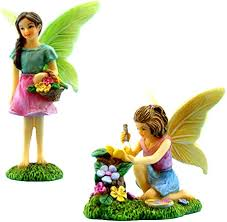 Fairy <b>Garden</b> Supplies <b>4 Pieces</b> A Joyful Fairy Playground Set with ...