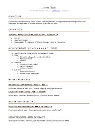 Good Resume Templates Forh School Students Templatehschool First Job ...