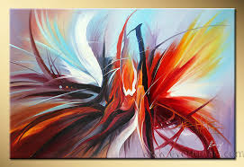 painting canvas modern abstract oil hand