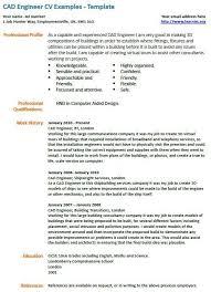 Cad Engineer Cv Example Cad Engineering Resumes Pinterest Cad