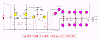 Inverter Circuit Design Using Mosfet Inverter Circuit 500w 12v To 220v Eleccircuit Com