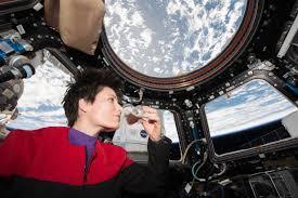 european cup office coffee. SA (European Space Agency) Astronaut Samantha Cristoforetti - Dressed In A Star Trek Voyager European Cup Office Coffee