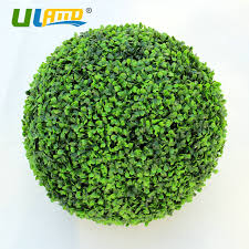 Decorative Boxwood Balls ULAND Artificial Boxwood Ball Plastic Plants Kissing Ball Faux 75