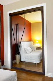 elegant sliding closet door with mirror and brown frame captivating closet door with mirror designs