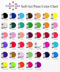 Americolor Soft Gel Paste Color Chart