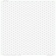 3d Paper 5mm Watermark Square Land A3
