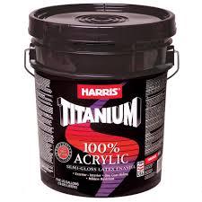 Harris 5 Gal Titanium Semi Gloss Latex Interior Exterior
