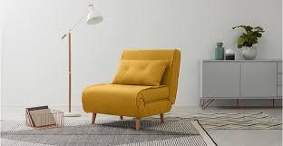haru single sofa bed er yellow