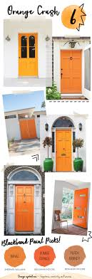 Orange front door Feng Shui Jaime Costiglio Colorful Front Doors