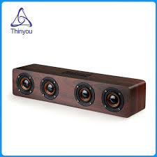speakers for tv. thiniyou wooden wireless bluetooth speaker 3w*4 hifi tf card aux subwoofer portable speakers for tv s