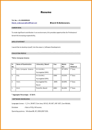 Simple Resume Samples For Freshers Free Download | Resume Template