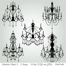 gothc clipart chandelier 7