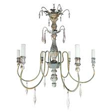 italian chandelier lighting painted six light chandelier with wood tassels chandelier italian design