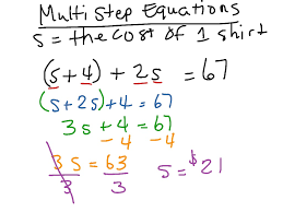 solving multi step equations math algebra showme