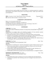 First Resume Resume Templates