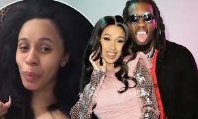 cardi b wore a t shirt and no makeup for secret marriage to offset daily mail
