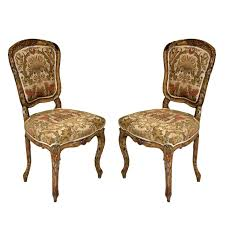 pair of french rococo painted louis xv style chairs for