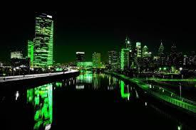 Boathouse Row Eagles Lights 1 26 2018 Flyeaglesfly Skyline Philly Pa Philadelphia Light