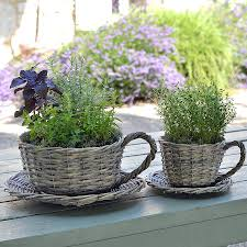 Decorative Cup And Saucer Holders Decoration Cup And Saucer Plant Holder Red Plant Pots Outdoor 68