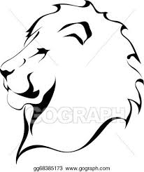 lion face black and white clipart. Perfect Clipart Lion Head On A White Background Tattoo And Face Black White Clipart E